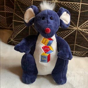 """RAT 🐀 """"I Love You"""" by Dan Dee Plush Doll toy"""